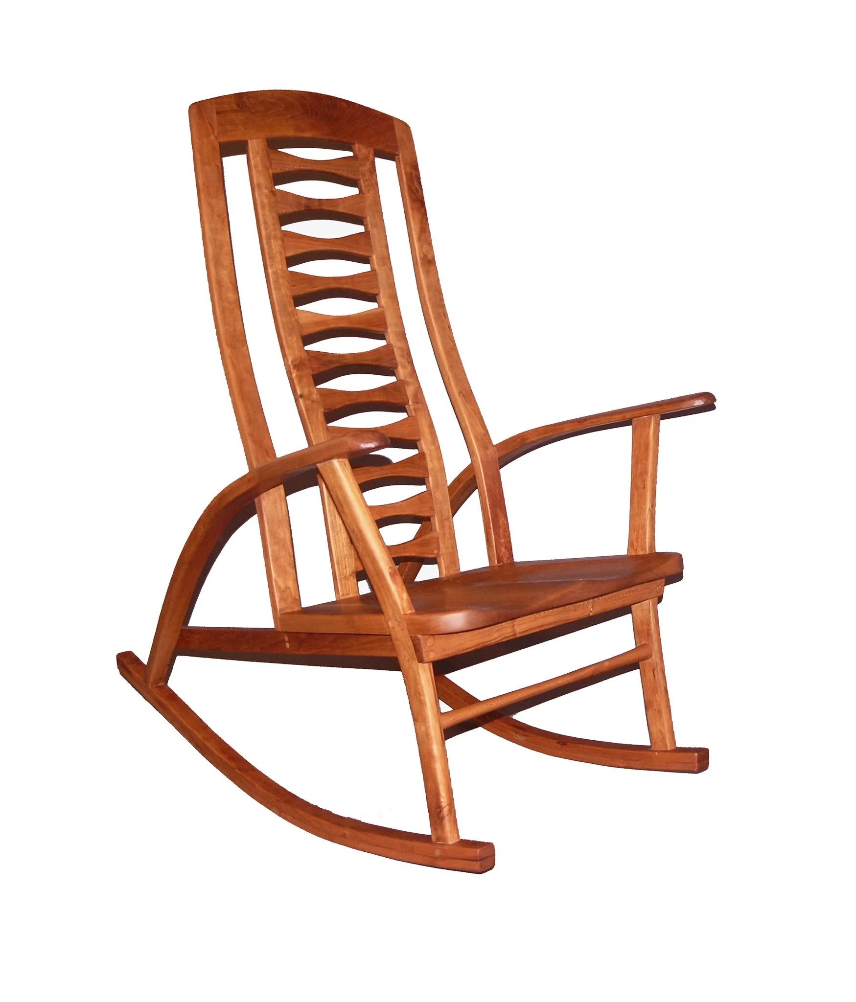 handmade rocking chairs chair covers buy knitting custom solid wood