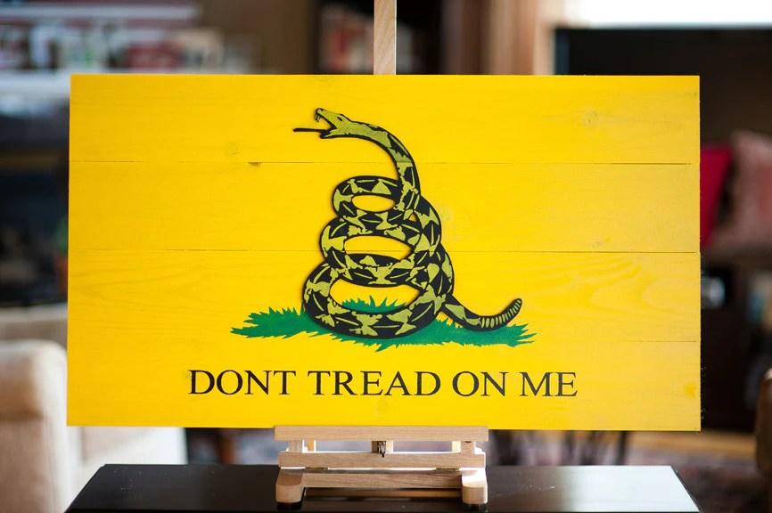 gadsden wood flag