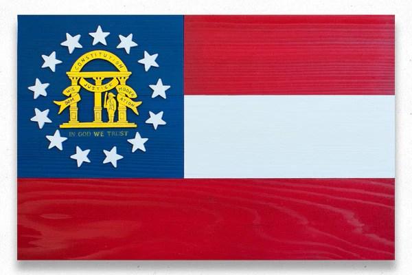 Georgia Wood Flag  Patriot Wood
