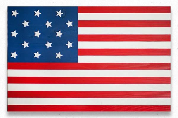 Star Spangled Banner Wood Flag Patriot Wood