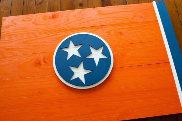 Tennessee Orange Wood Flag  Patriot Wood