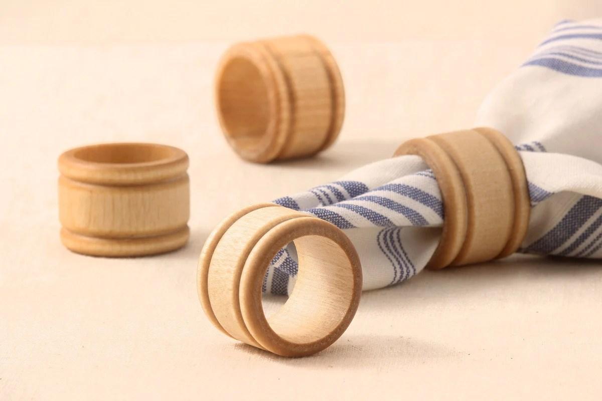 Handmade Wood Napkin Rings | NH Bowl and Board | New Hampshire Bowl and Board