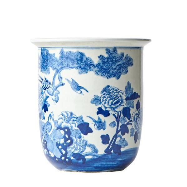 Blue and White Flower Pot  Caitlin Wilson