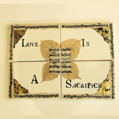 Ivy and Gold - Love is a Sacrifice - Set of 4 Canvasses