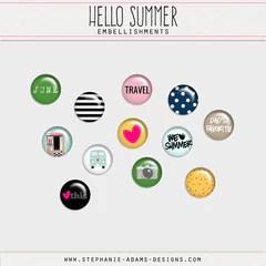 Hello Summer Digital Kit Only