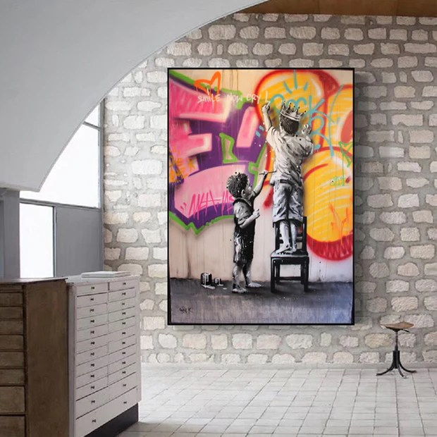 behind the curtain kid graffiti art