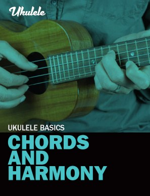 book cover for ukulele basics – chords and harmony