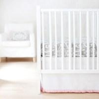Gray & Pink Damask Wisteria Baby Bedding Set