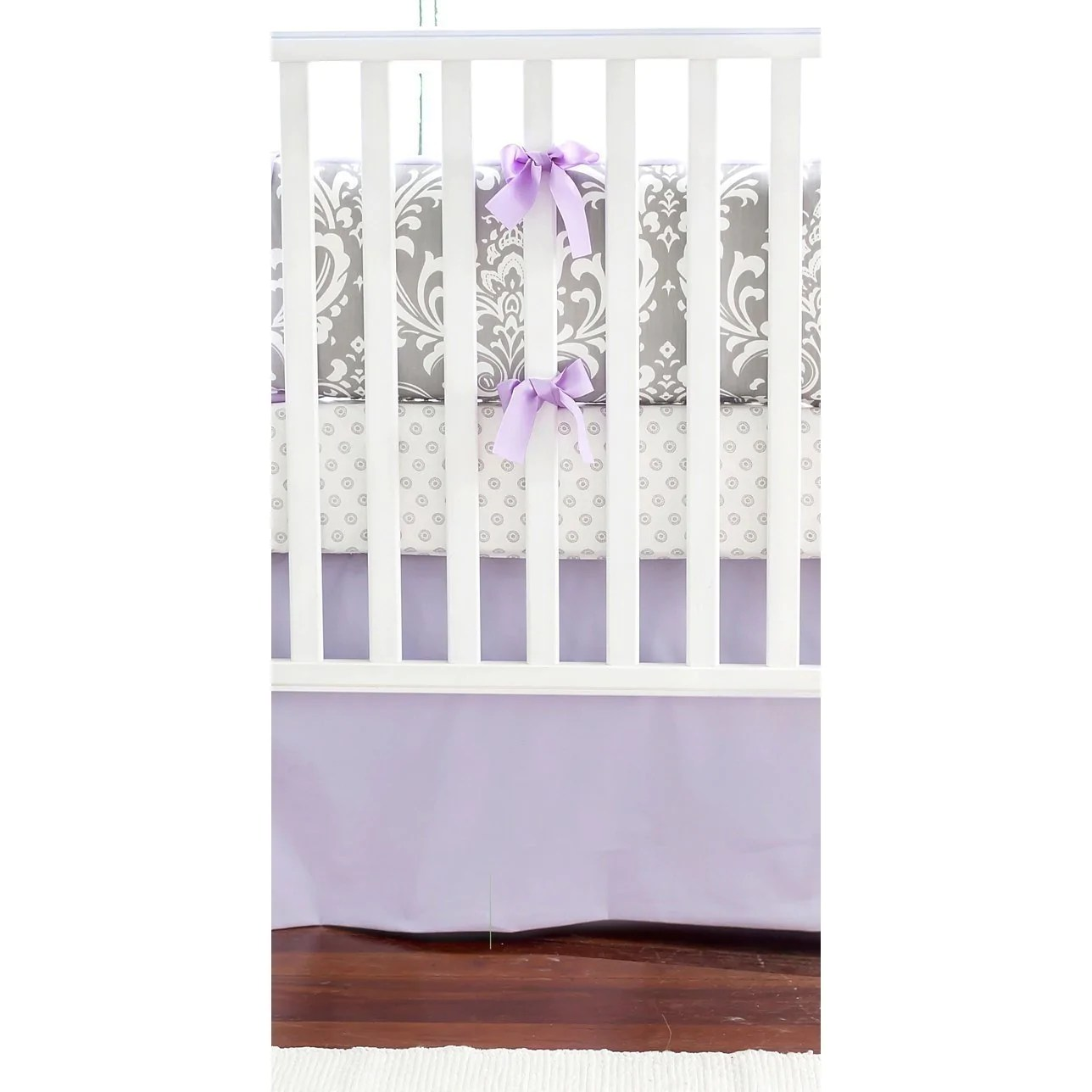 Lavender & Gray Damask Wisteria in Lavender Baby Bedding