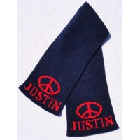 Peace Sign Personalized Knit Scarf  Jack and Jill Boutique