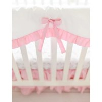 Pink Bumperless Crib Baby Bedding Set  Jack and Jill Boutique