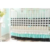 Striped Bumper Baby Bedding | Black, White Crib Bedding ...