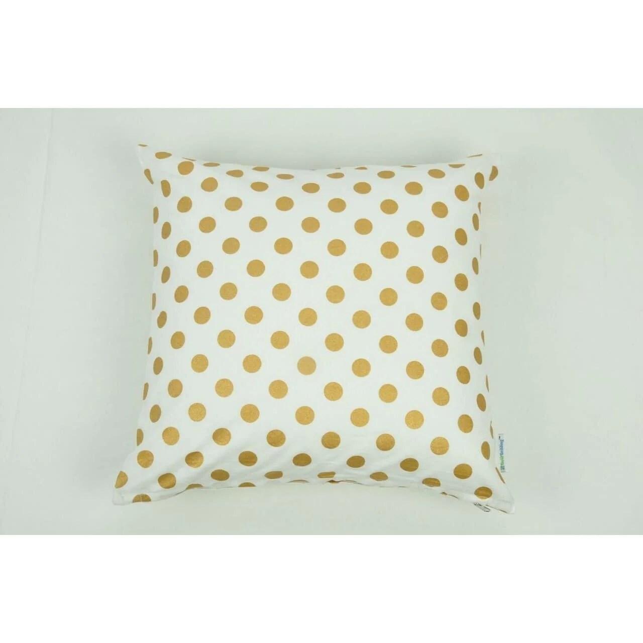 throw pillow cover medium metallic gold dots