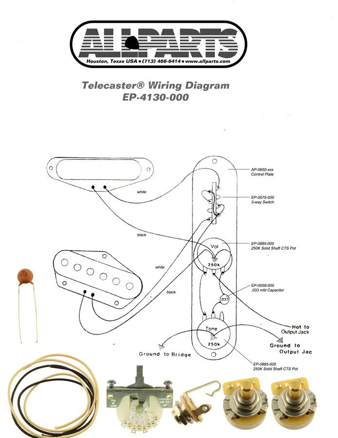 telecaster wiring diagram mods nema l14 30p kit for tele mod 4 way switch allparts uk