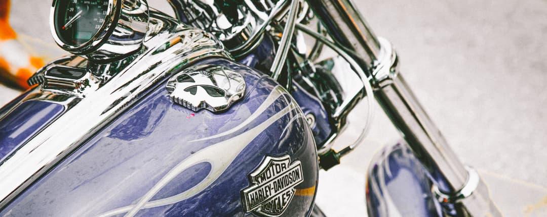Skull on a Harley Davidson