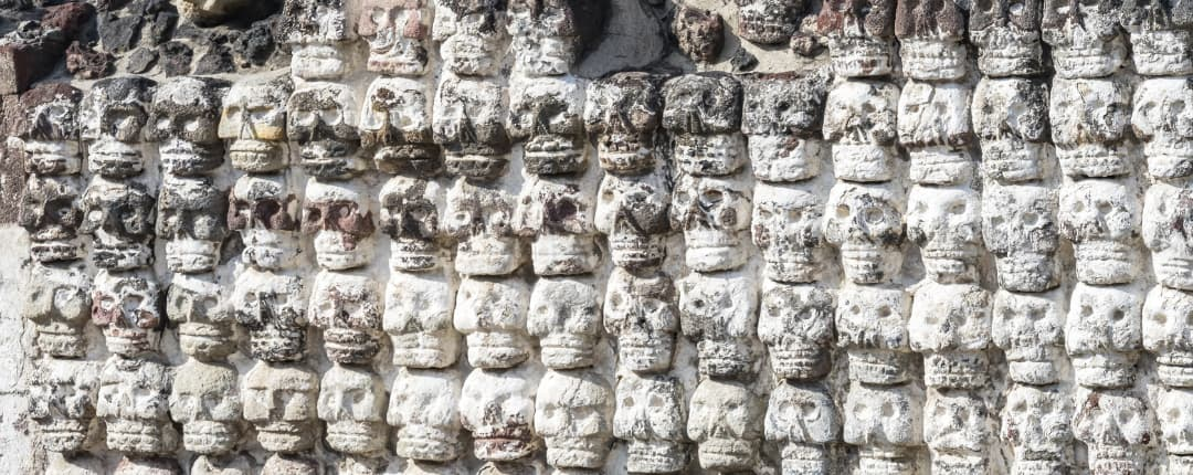 Aztec Skull Wall