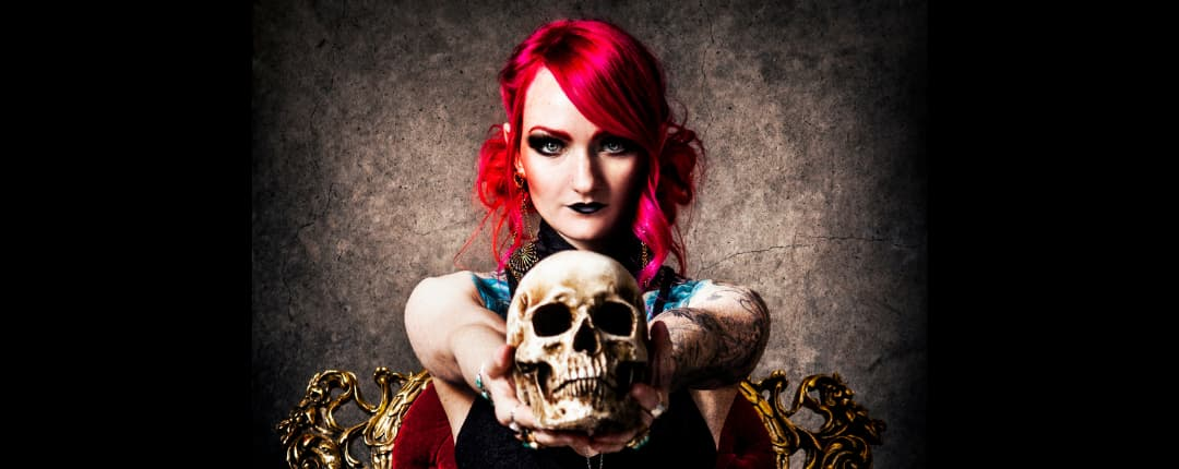 Gothic Women with a Skull