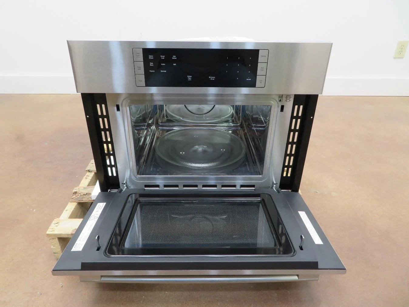 bosch 500 series 27 1 6 lcd controls built in microwave oven hmb57152uc imgs