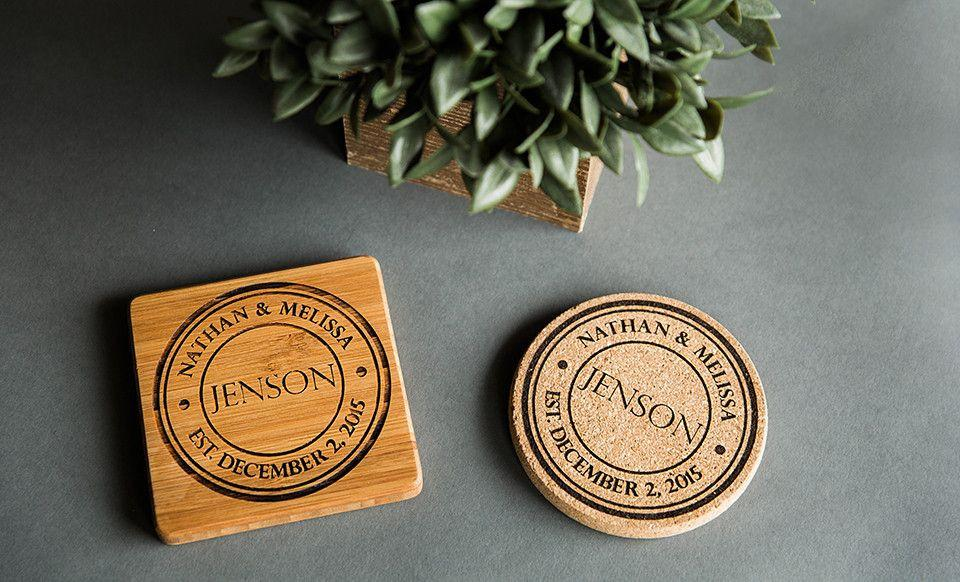 Personalized Thick Cork Coasters