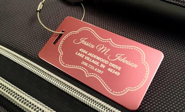 Personalized Aluminum Luggage Tags  Qualtry