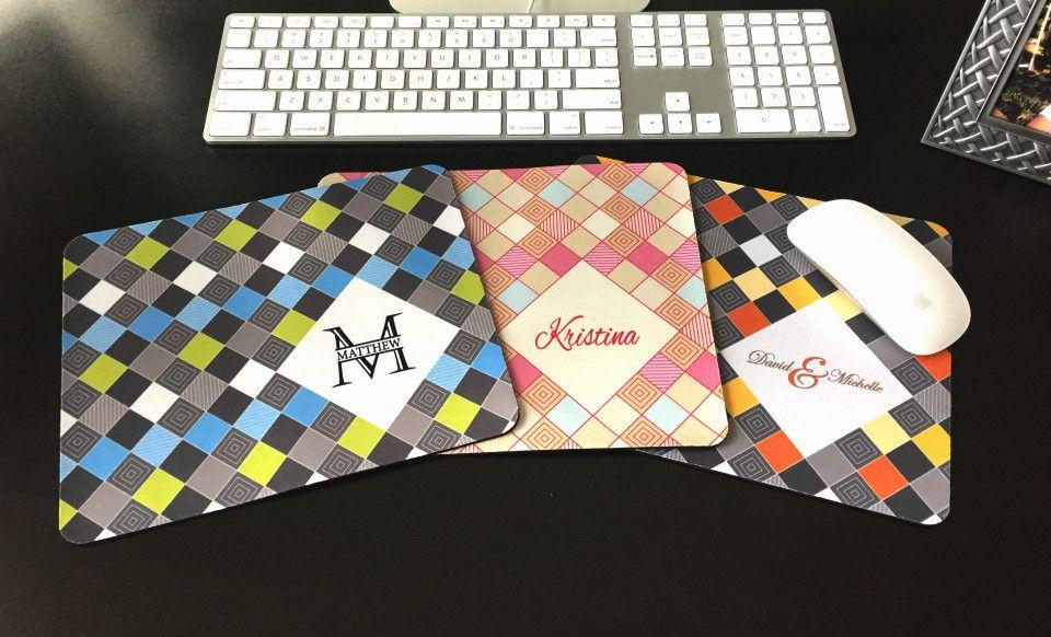 personalized mouse pads checkerboard