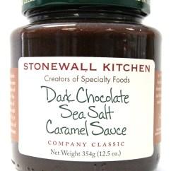 Stonewall Kitchen Dark Chocolate Sea Salt Caramel Sauce 4 Hole Faucets