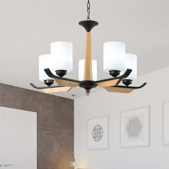 lustre design en bois maison du lustre