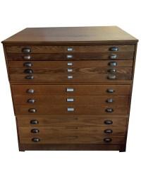 Vintage Hamilton Flat File Cabinet  Collier West