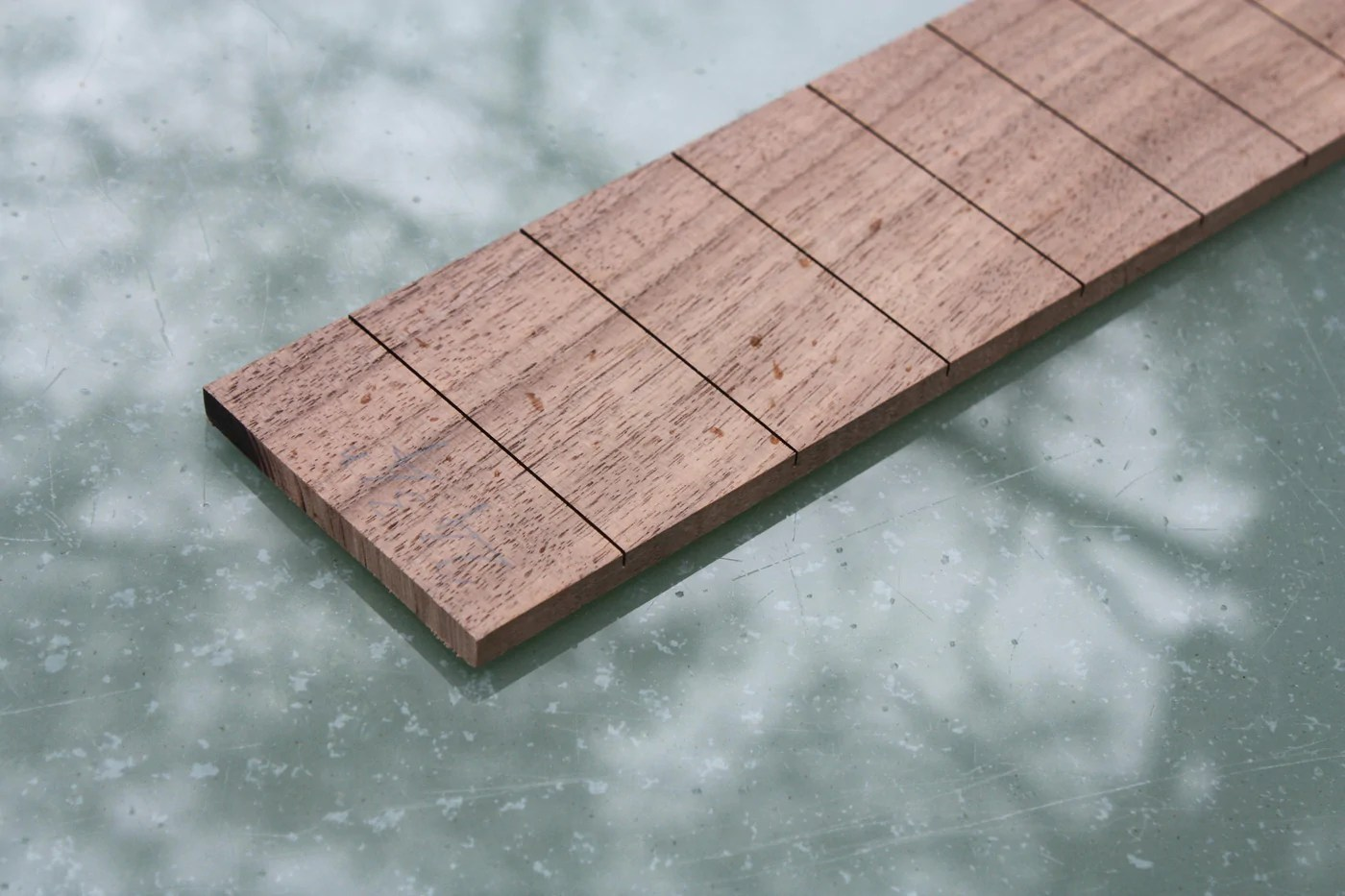 small resolution of wide slotted fretboard suitable for 6 string guitars made by chickenbonejohn guitars