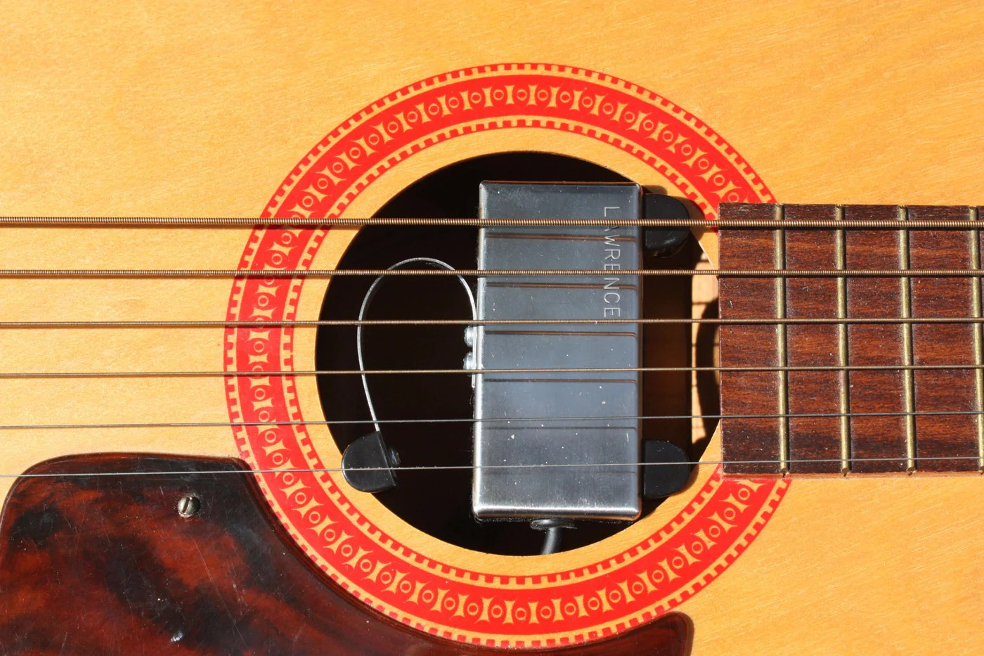 medium resolution of  bill lawrence a 300 acoustic pickup on guitar