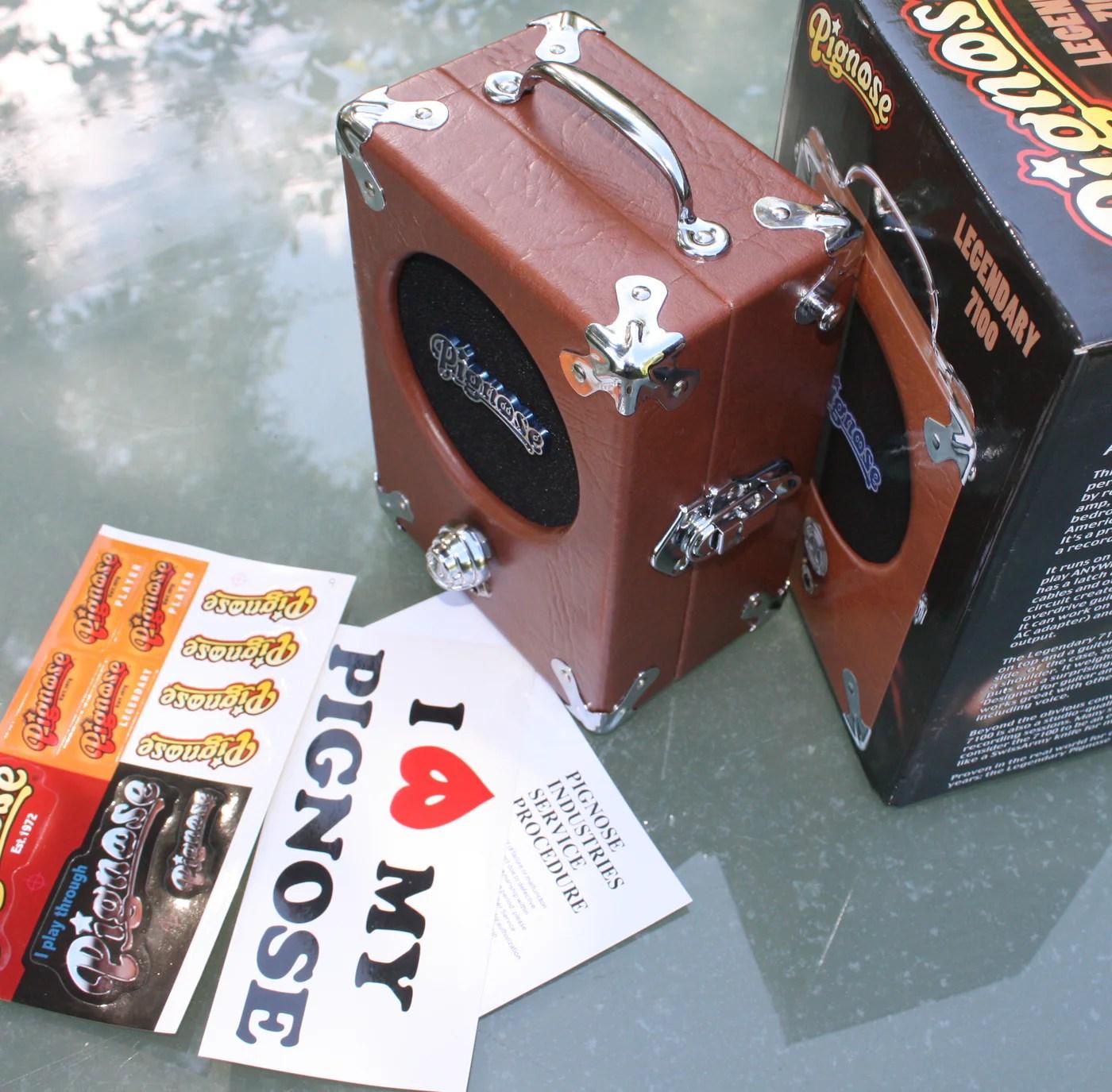 the legendary pignose 7 100 battery amp [ 1400 x 1375 Pixel ]