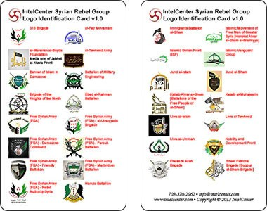 IntelCenter Syrian Rebel Group Logo Identification Card v1