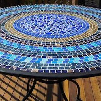 learn how to make a mosaic table the