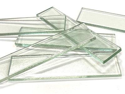 clear glass tiles 10 x 2 5 cm