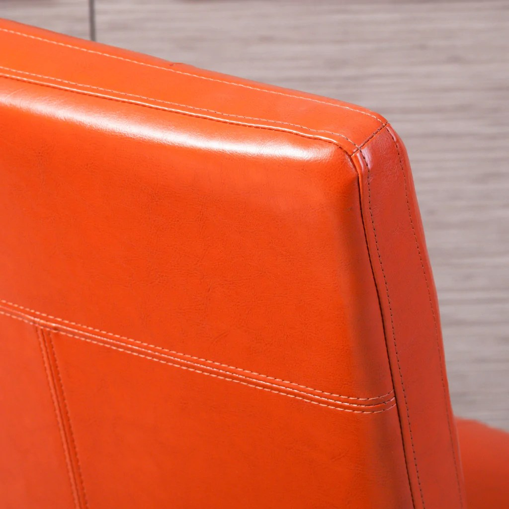 orange leather chairs modern cheap highland dining set of 2 great