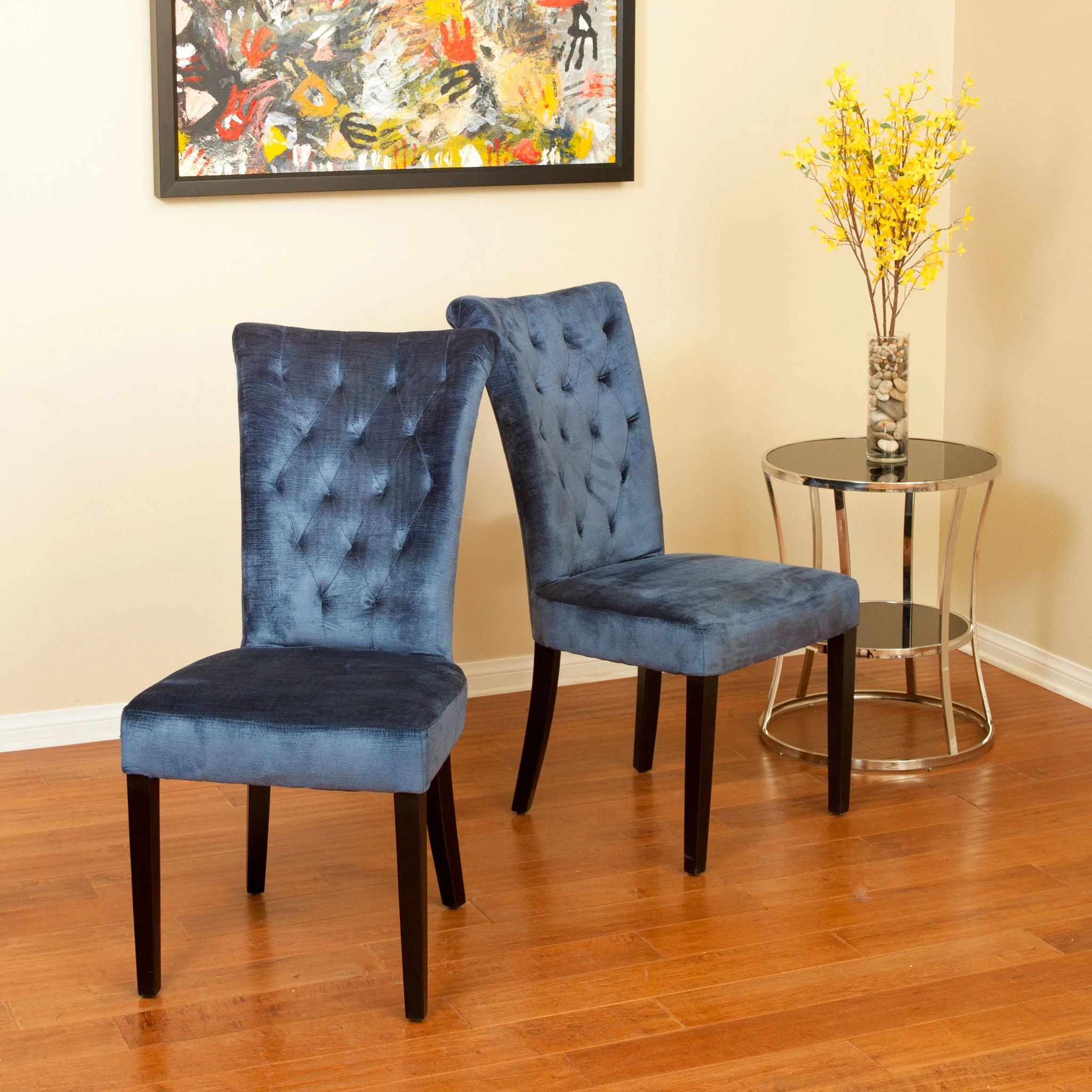 royal blue velvet chairs desk jockey chair pad juliette dining set of 2 great deal