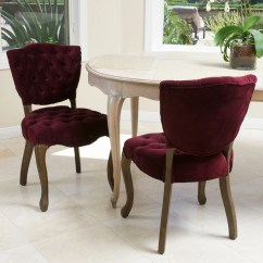 Purple Dining Chairs Canada Chair Covers Jumia Violetta French Design Set Of 2 Great Deal 637162150726 Silvana Tufted Dark Fabric