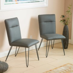 Gray Accent Chairs Set Of 2 Big And Tall Office Staples Bonsallo Grey Vinyl Great Deal