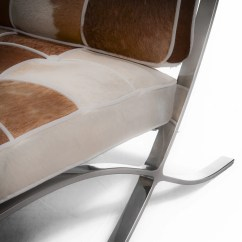 White Leather Accent Chair Canada Wheelchair Manufacturers Pavilion Brown Cowhide And Great Deal