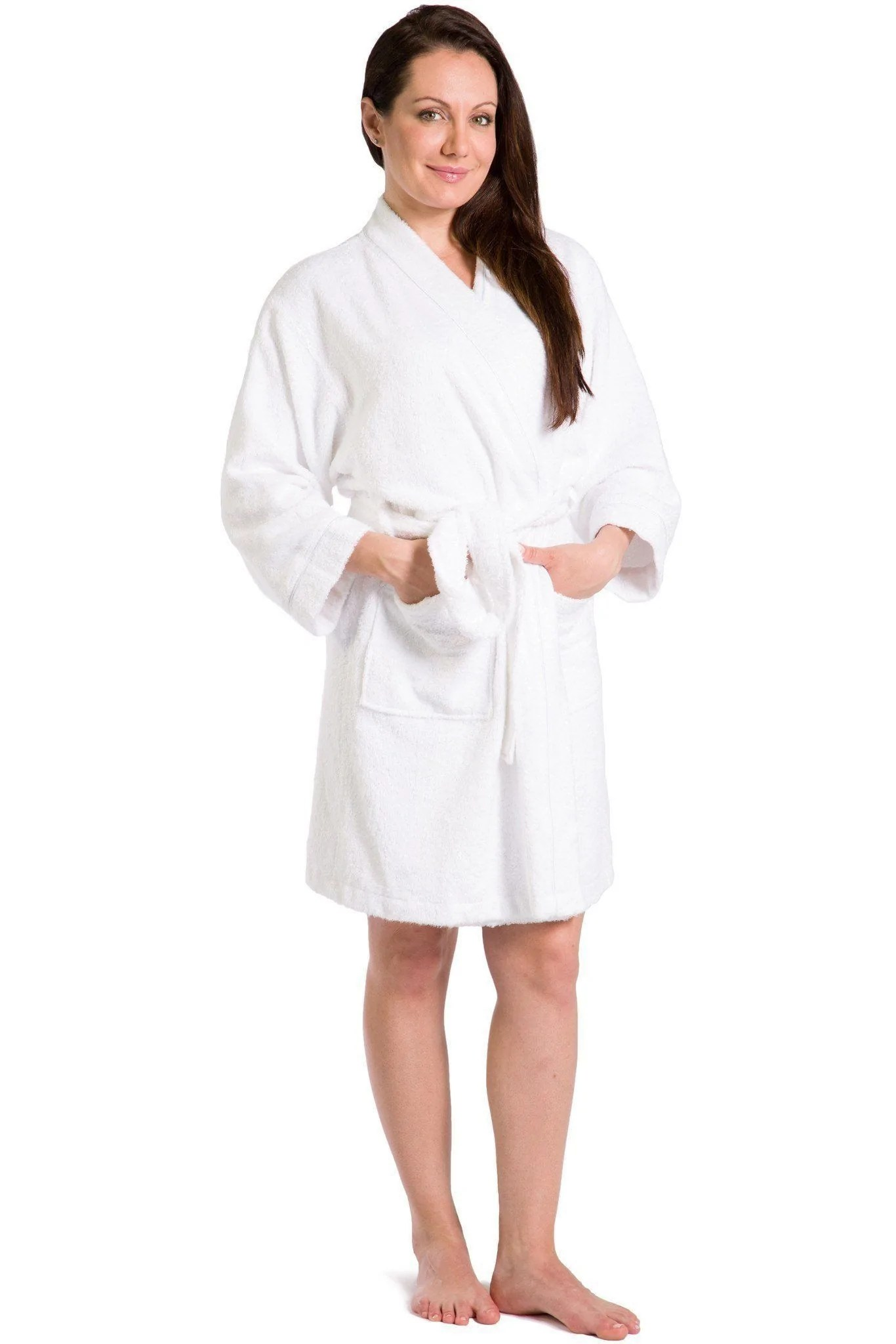 Women' Robes Terry Cloth Kimono Style Short Robe Fishers Finery
