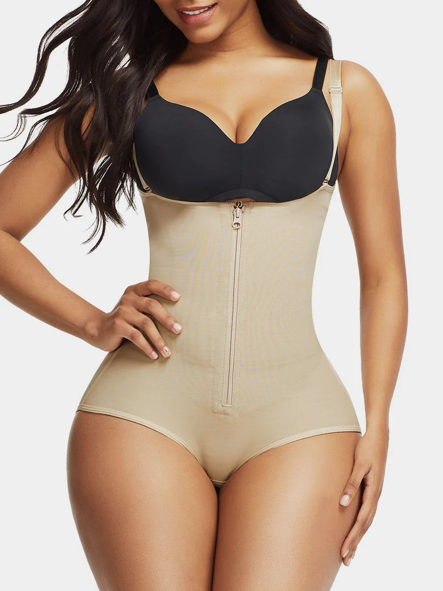 Zip-Up Smooth Firm Control Full Body Shaper