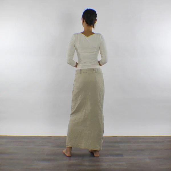 Linen Button Down Skirt  Aline Skirt  linenshed  LINENSHED