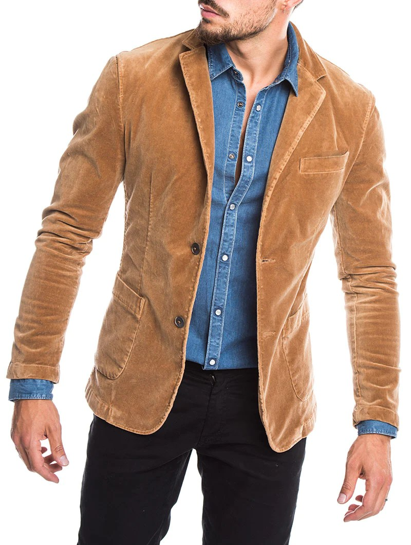 Corduroy Sport Jacket Blazer for Men