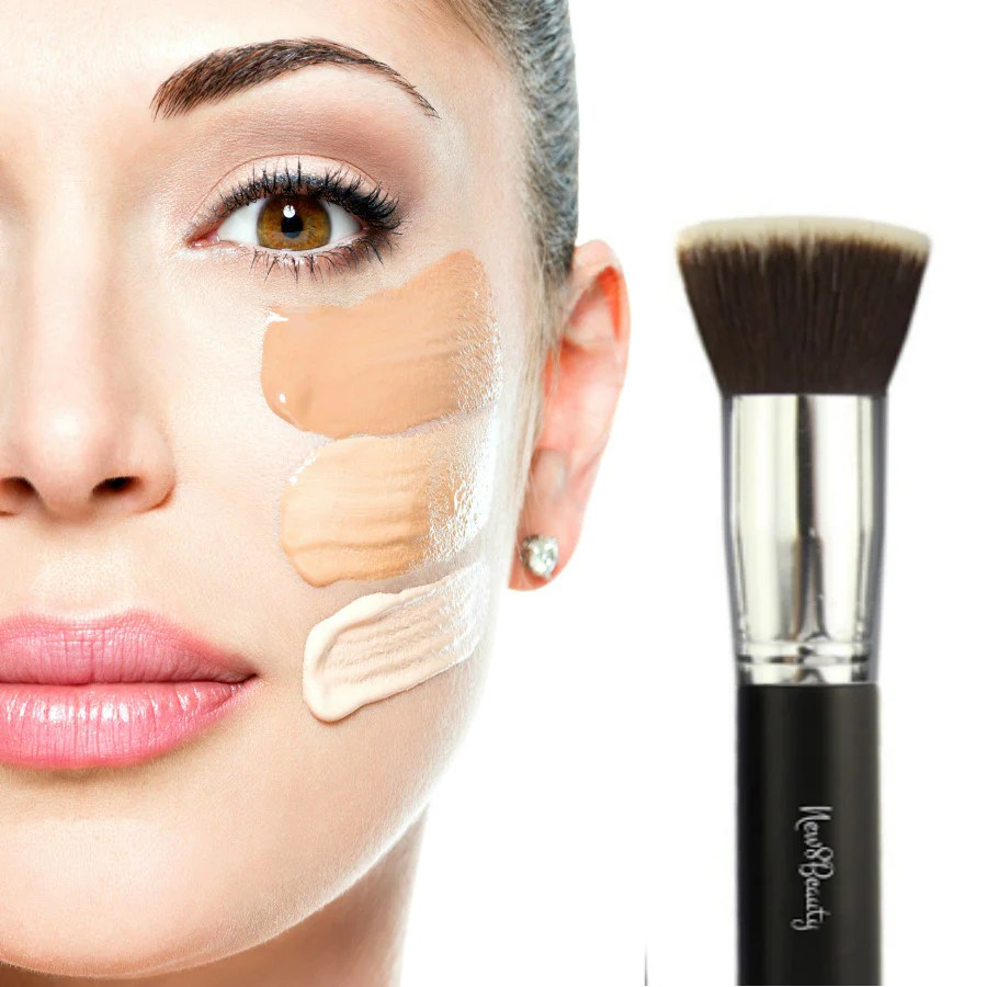 Best Foundation Brush Flat Top Kabuki Synthetic Face Brush