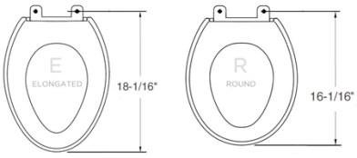 elongated vs round toilet seat
