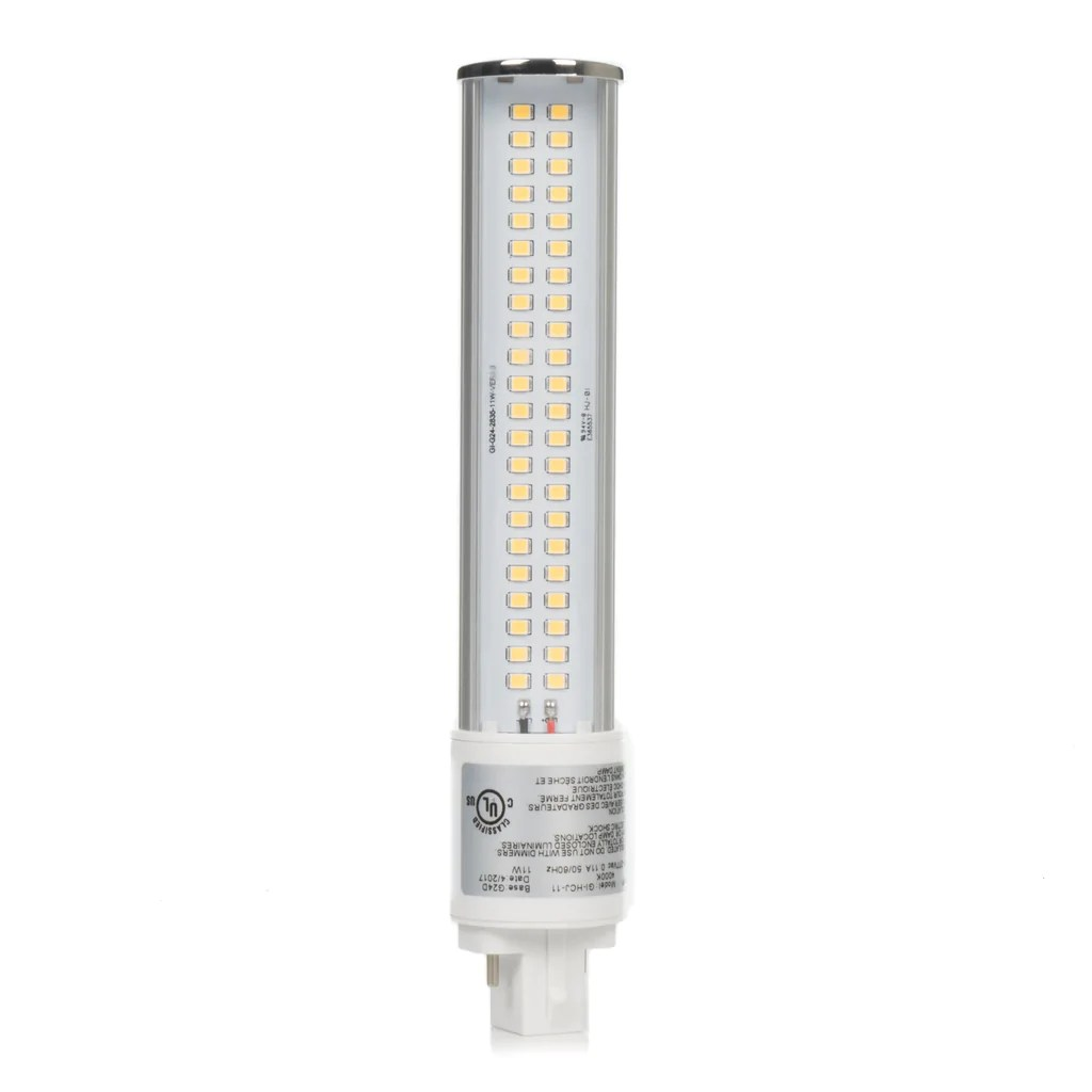 11w retrofit led pl 120 degree bulb g24q base ul listed [ 1024 x 1024 Pixel ]