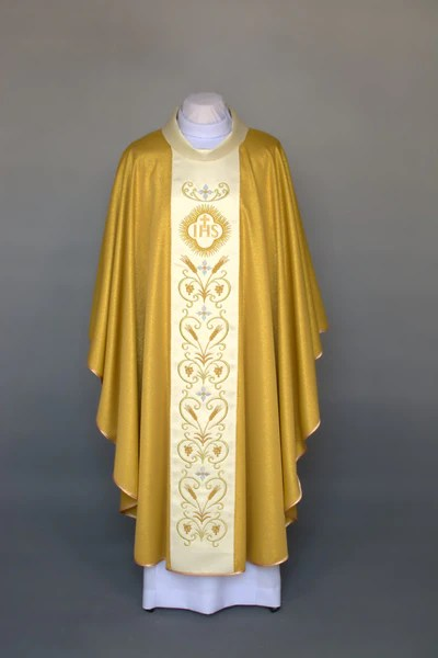 Clergy Embroidered Eucharistic Chasuble  Vestments For Clergy
