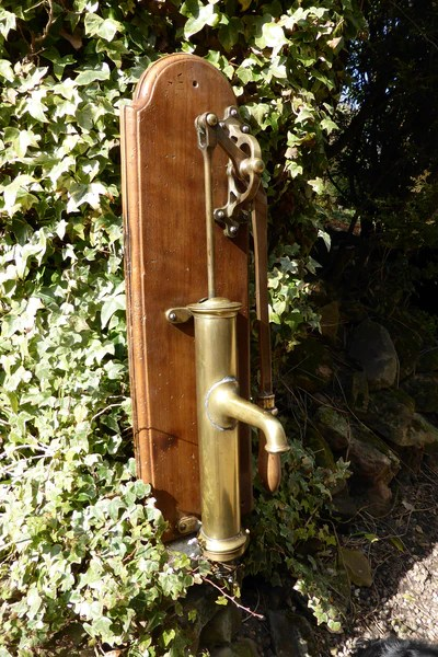 Restored Antique French Brass Hand Pump  DragonQuarry