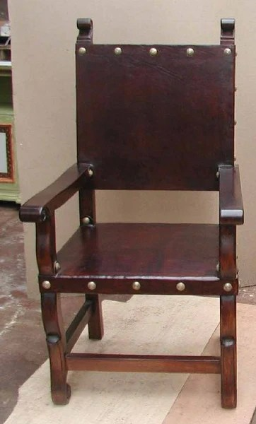 Spanish Colonial Armchair  Spanish Colonial Leather