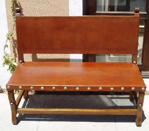 Spanish Colonial Bench spanish hacienda bench  R